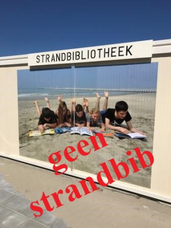 GEEN strandbibliotheek!
